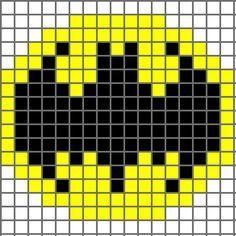 Free graph patterns for crocheting | Free Crochet Pattern Bat (Batman) Logo Chart - Crocheting Patterns ...