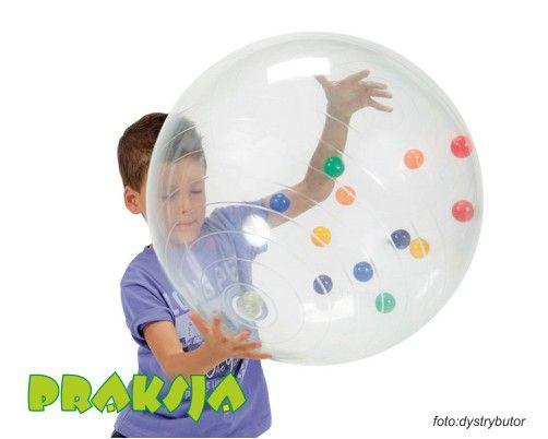 Piłka z kulkami ACTIVITY BALL 50 cm GYMNIC - Sprzęt i pomoce do terapii integracji sensorycznej