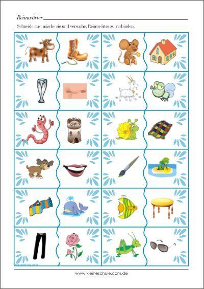 reimw rter bildkarten lernkarten f r vorschul und grundschulkinder alphabet spielerisch. Black Bedroom Furniture Sets. Home Design Ideas