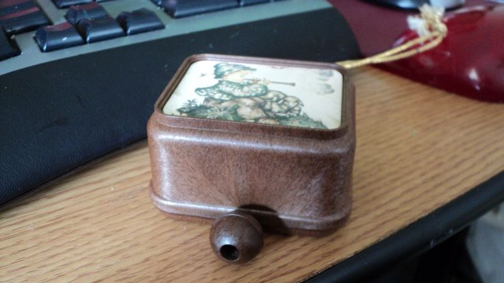 Vintage Hummel Pull String Music Box Ornament Sound Of