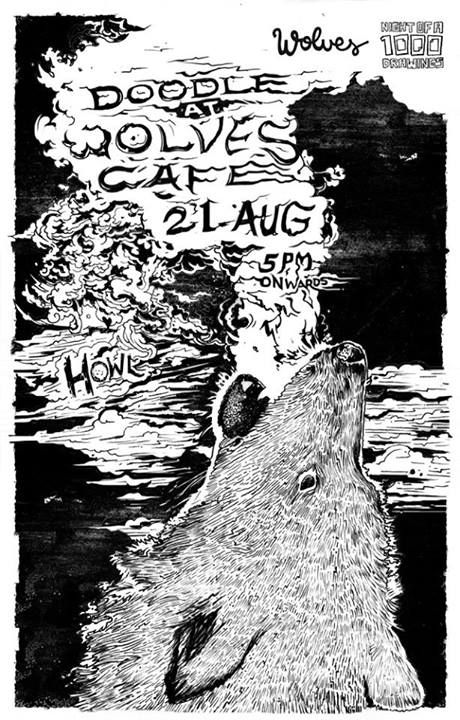 Full moon doodle at Wolves