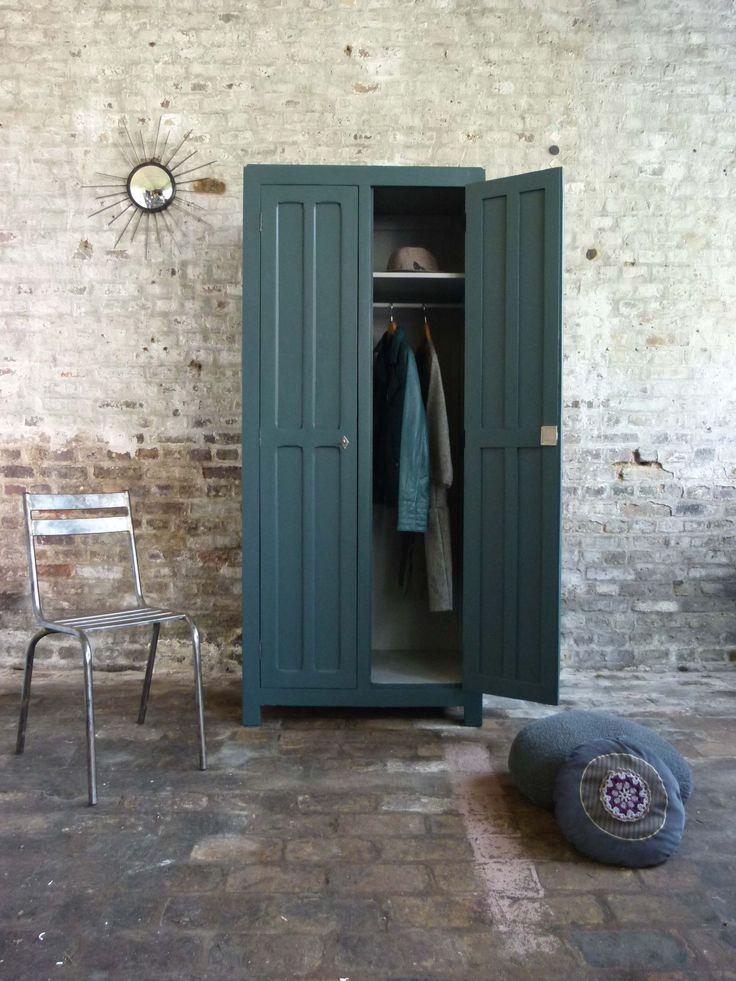 Vestiaire en bois années 40 - Atelier Charivari