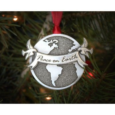 Our Peace on Earth ornament celebrates the holiday spirit and encourages us to look to the future with hope that it can be one where everyone lives in peace.