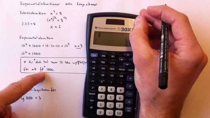 Exponentialekvationer och logaritmer
