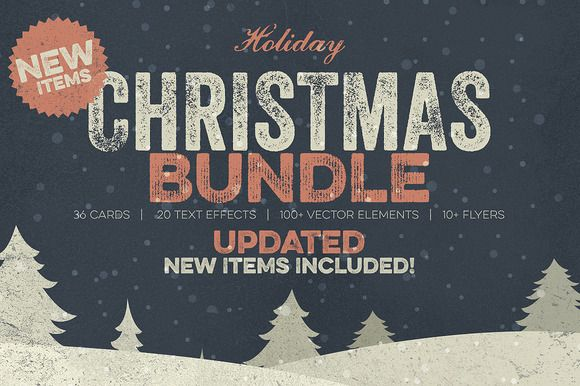 Christmas Bundle by Zeppelin Graphics on Creative Market