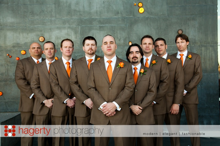 love the brown suit color for the groom and groomsmen since i want