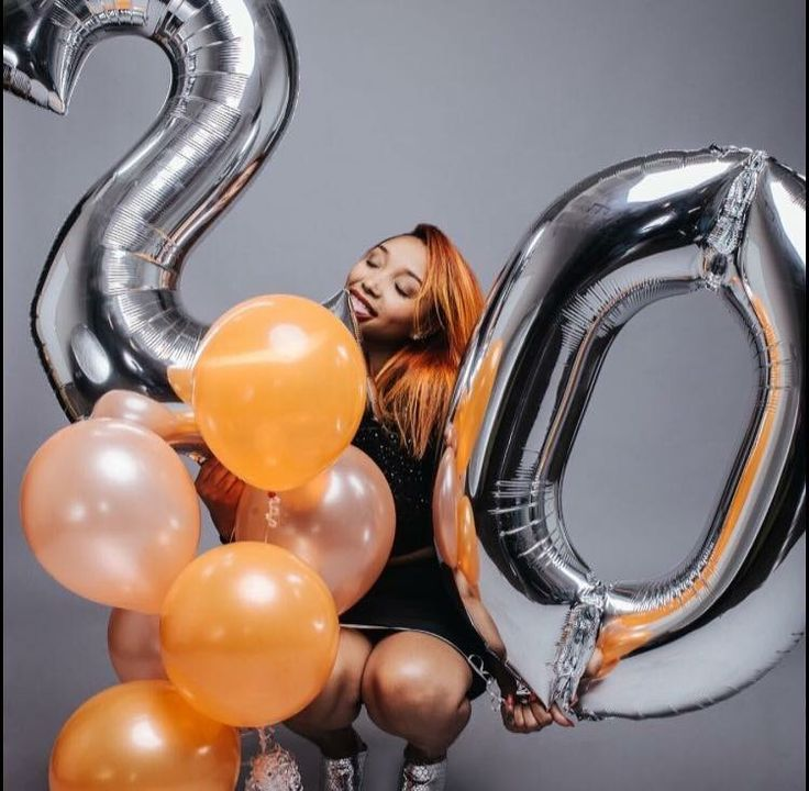 Number Balloons Photoshoot