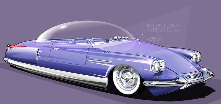 Pictures Of Cool Cars >> Hot Rod Art | 1959 Citroen Bubble Top | Cool cars | Pinterest | Kustom and Cars