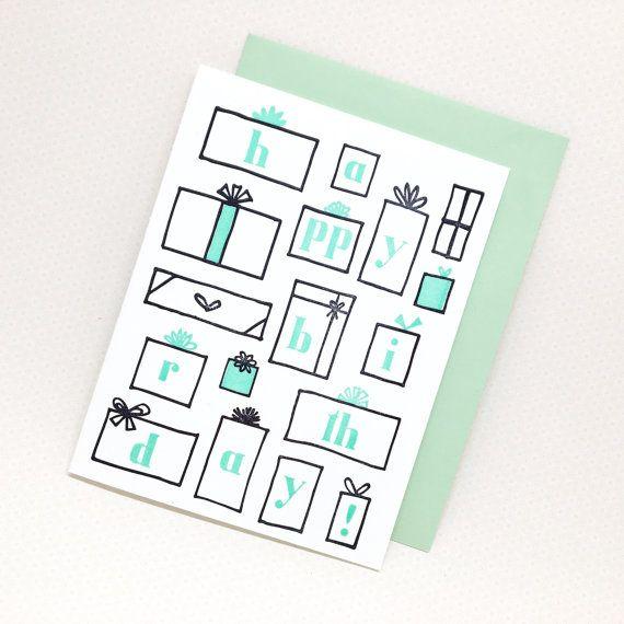 Buchdruck alles Gute zum Geburtstagskarte: von LittleGoatPaperCo