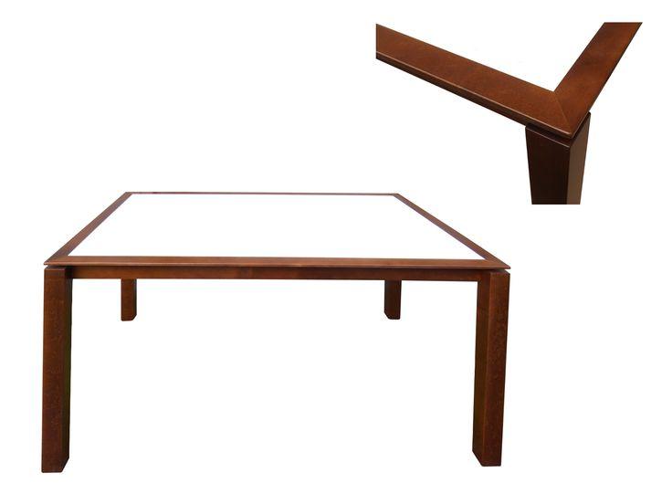 Stół (do jadalni) Joseph, lite drewno (olcha) / Esstisch (aus Massivholz - Erlenholz) Joseph, biały blat z Kerrock´u / weiße Tischplatte aus Kerrock