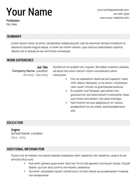 16 best Job Application Templates images on Pinterest Role - example of restaurant resume