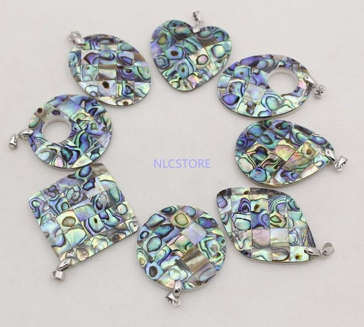 beauty 40mm-35mm natural Abalone paua shell handmade pendant jewelry choose  #Unbranded #Pendant