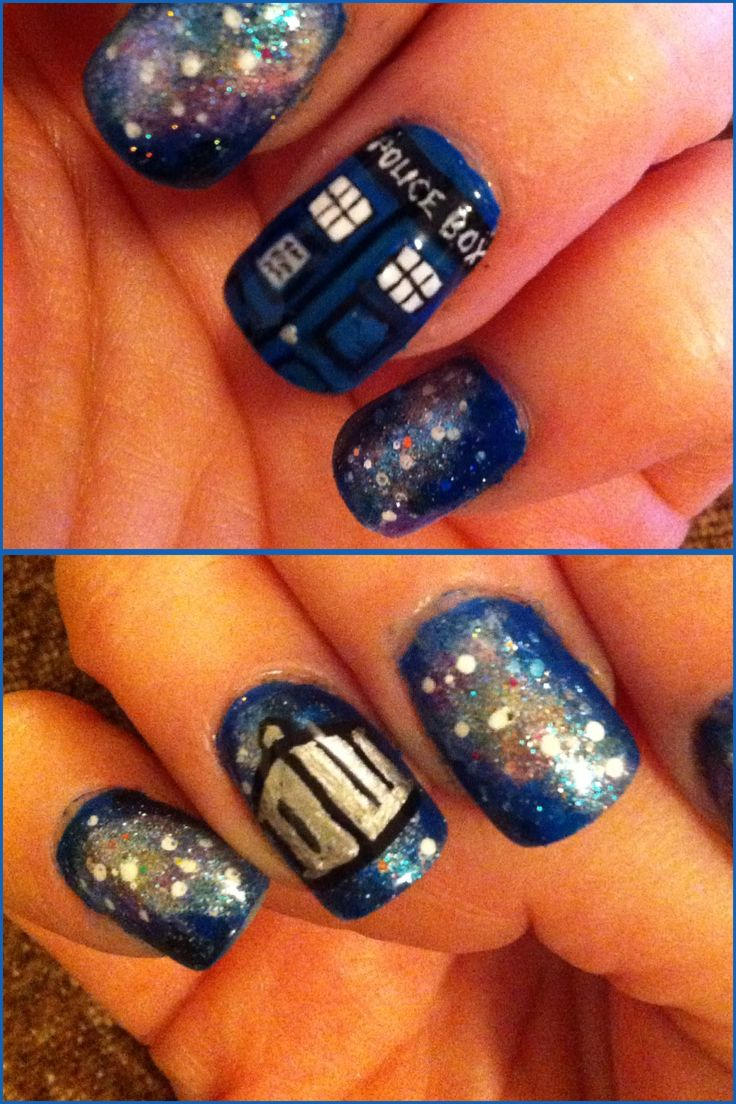 I painted Doctor Who nails :)