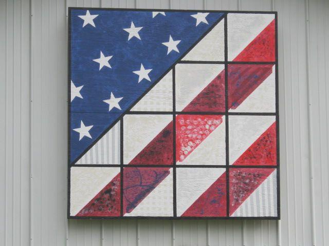 barn quilt designs | Hancock County, Ohio Barn Quilts: American Flag