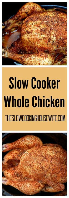Super easy perfectly roasted chicken in your crockpot! Cooked to perfection this chicken falls off the bone.