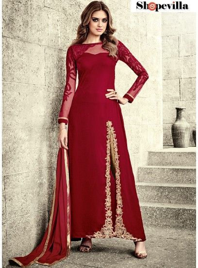 Perfect Embroidered Work Designer Salwar Suit-3805