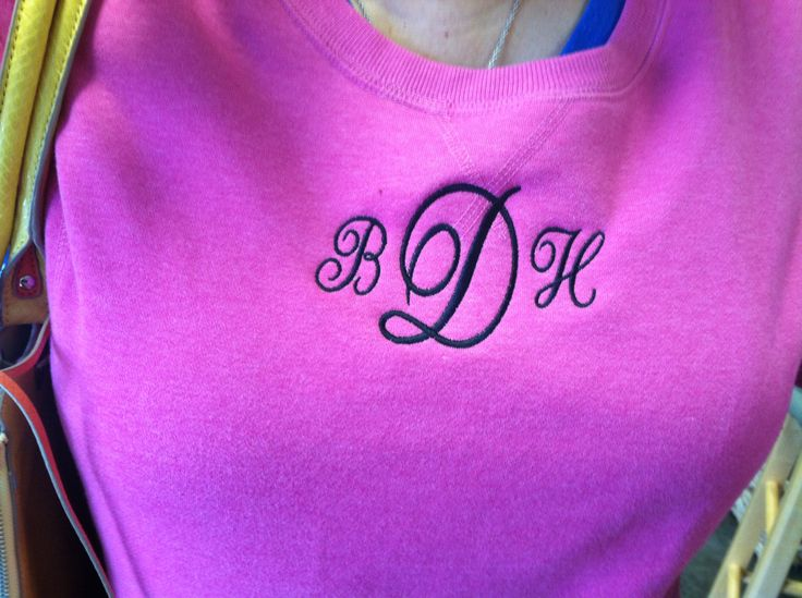 Monogrammed sweat shirt