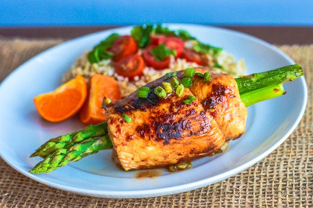Sweet, Spicy Teriyaki Chicken-Wrapped Asparagus | eHow Food