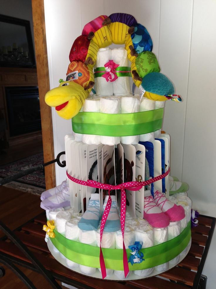 Book themed diaper cake