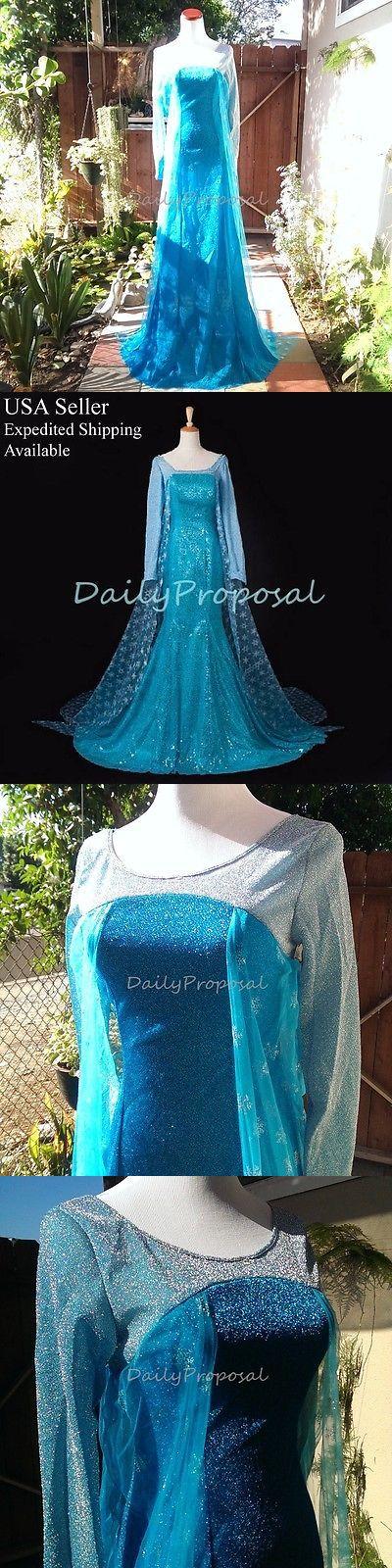 Halloween Costumes: Ae4 Adult Elsa Snow Queen Dress Frozen Disguise Costume Halloween Cosplay X-Xxl BUY IT NOW ONLY: $34.95