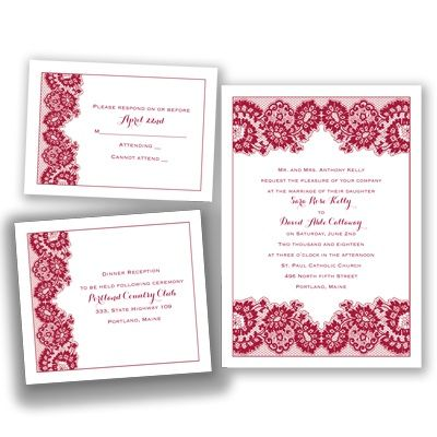 lovely in lace apple invitation bundles - Wedding Invitation Bundles