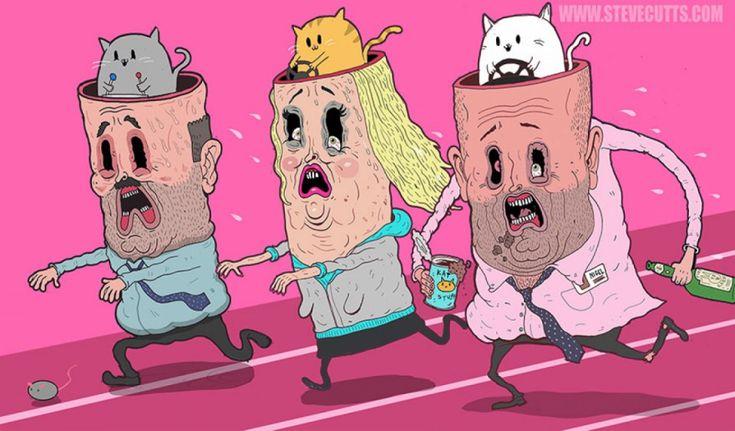 Les problèmes de notre société dénoncés en 16 illustrations trash et satiriques   Buzzly