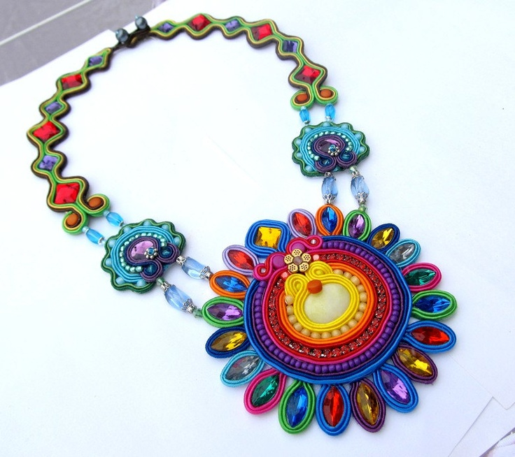 Extraordinary Soutache Necklace Charm Glamour by IncrediblesTN, $289.00  Love this one!!!