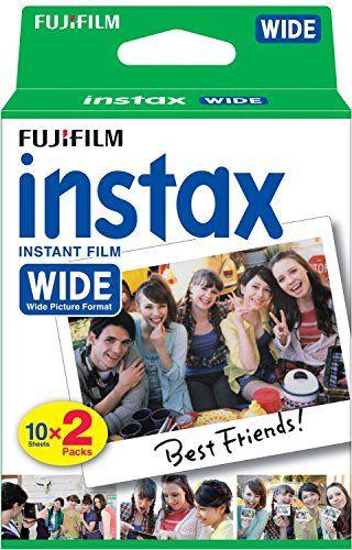 Fujifilm Film Instax Wide 99 x 62 mm – Compatible Appareil Instax Wide uniquement – Bipack 10 x 2 films