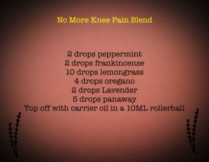 Fabulous for knee joint pain!!!! Young Living Distributor # 10732214
