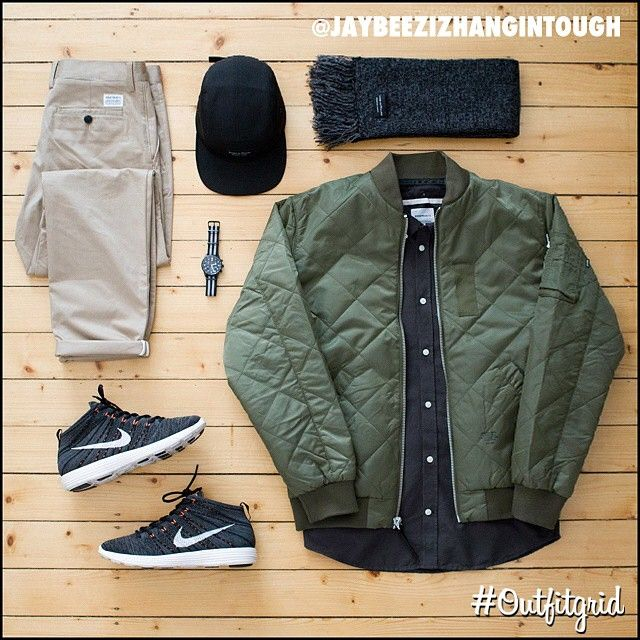 """""""Yesterday's top #outfitgrid is by @jaybeezishangintough. ▫️#Stussy #MA1…"""