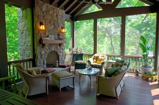 Screened Porch Addition With Windows To Keep