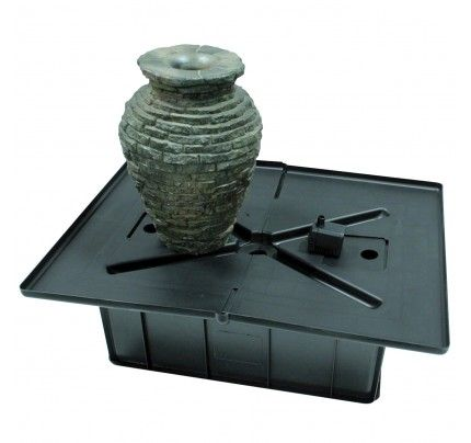 Aquascape AquaBasin Mini Fountain Kit - Mini Stacked Slate Urn