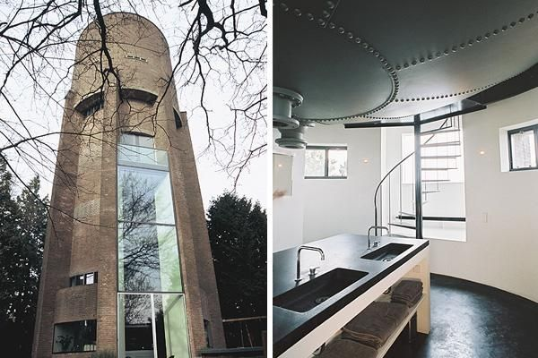 building water tower in the Netherlands