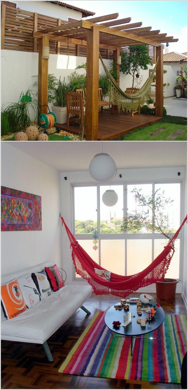 Decora tu casa con hamacas y sillas colgantes...haz un ambiente único...Visítanos en www.brasilchic.net