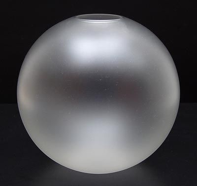 Frosted glass balllvase design A.D.Copier 1928 executed by Glasfabriek Leerdam / the Netherlands
