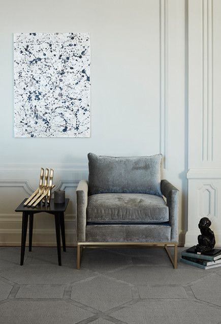 Take inspiration from this great styling. Amazing grey graphic rug from Layered's Wool Collection. The contemporary design is called Medallion True Greige and is available in three sizes. Free worldwide shipping. See more at: http://layeredinterior.com/product/medallion-2/