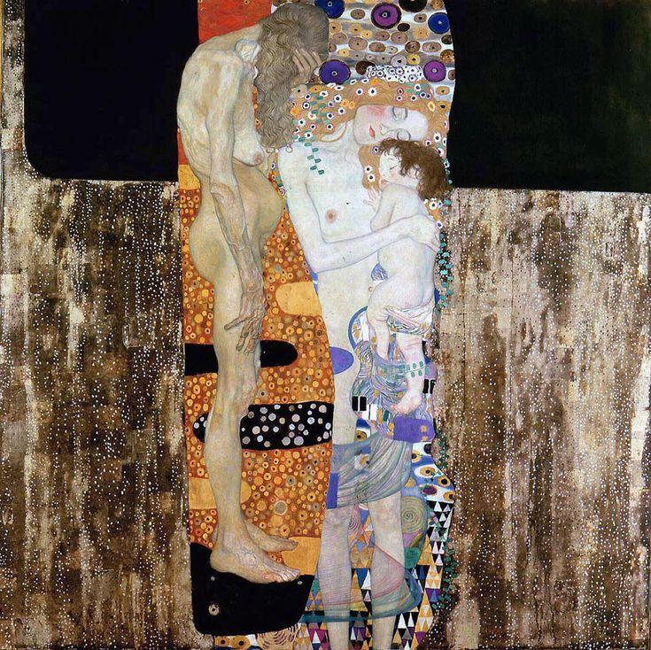 Gustavo Klimt - Le tre età della donna. 1 dei 3 capolavori della galleria
