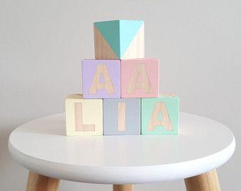 Custom name blocks nursery by SquishyTotsAU on Etsy
