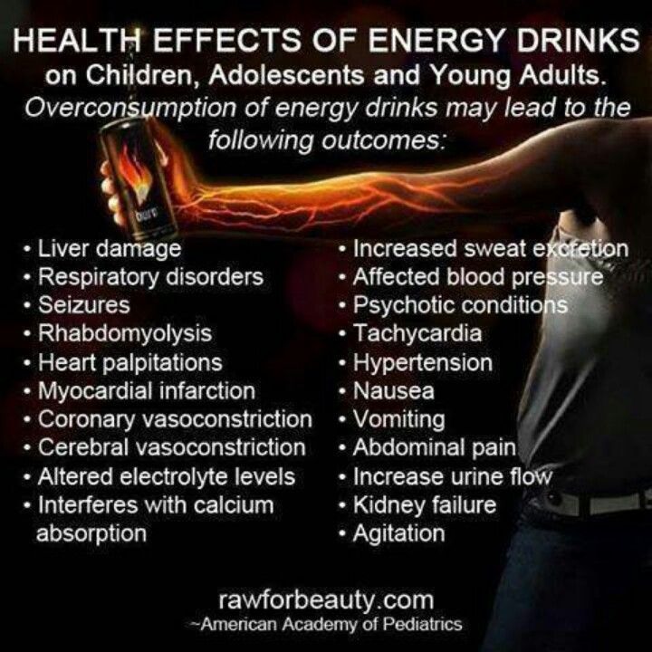 study negative effects of energy drinks The effects of energy drinks on college students  a study revealed that almost 57% of them use  the contents of the energy drink will have negative effects on.