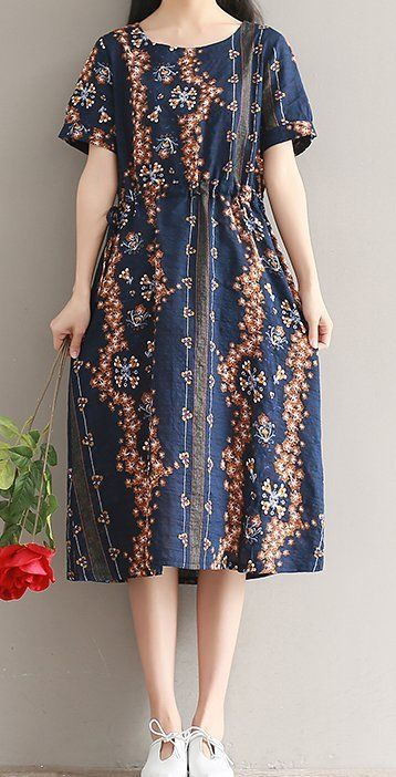 Women loose fit plus size maxi dress retro flower pocket tunic robe chic fashion #Unbranded #Maxi #Casual