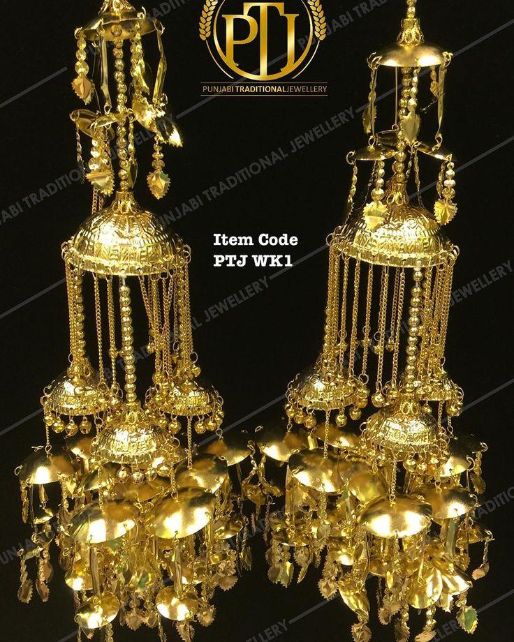 "Punjabi Traditional  ""Pippal Patti Wedding Kalire""  Item Code - PTJ WK1  For price please inbox with Image or WhatsApp at this number +91 9914721111 or you can email us at Punjabijewellery@gmail.com  #sydney #australia #america #canada #california #kuwait #dubai #london #england #india #italy #sikhwedding #bride #fashion #happy #jewellery #kundan #lehnga #love #newyork #NYC #punjabi #toronto #traditional #uk #us #usa #viah #sikhwedding #kalire"