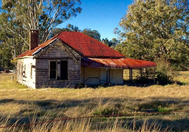 Abandoned rustic hut. Part of Australian farmland scenery. July 2016