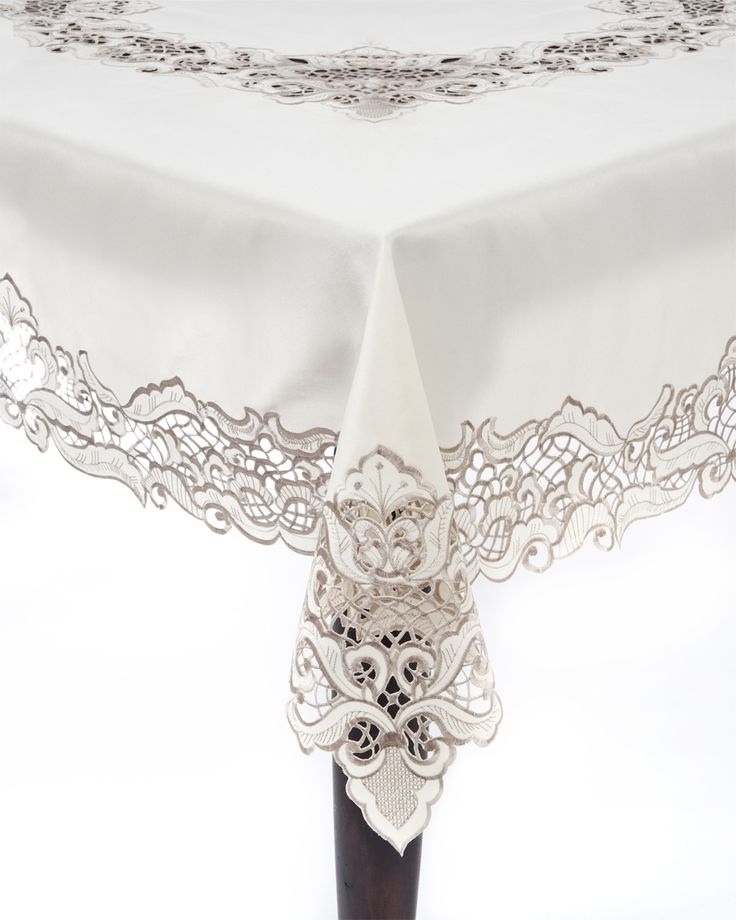 Embroidered & Cutwork Tablecloth