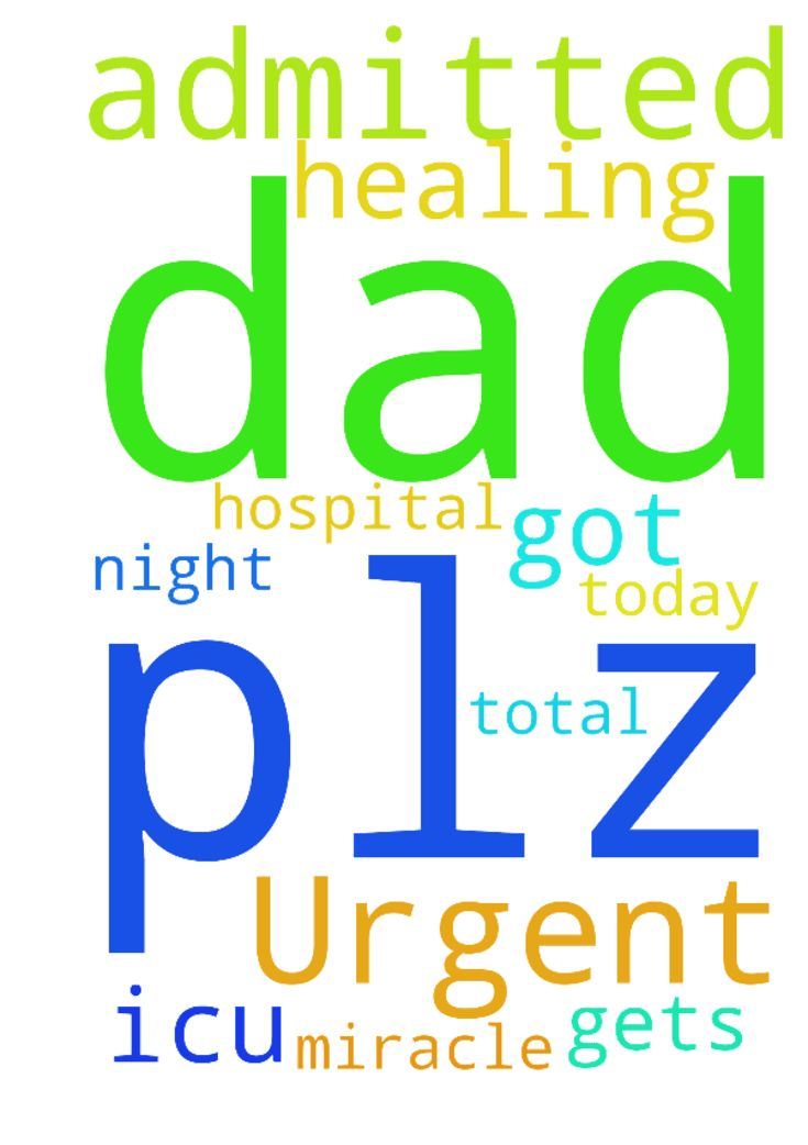 Urgent prayer request my dad is in icu got admitted - Urgent prayer request my dad is in icu got admitted in hospital. Plz prayer for his healing. Plz let my dad gets total healing today night itself plz do miracle God amen Posted at: https://prayerrequest.com/t/LgP #pray #prayer #request #prayerrequest