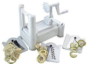 Amazon.com: Paderno World Cuisine A4982799 Tri-Blade Plastic Spiral Vegetable Slicer: Kitchen & Dining