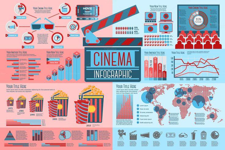 Cinema and Movie Infographics set by Tashal on Creative Market