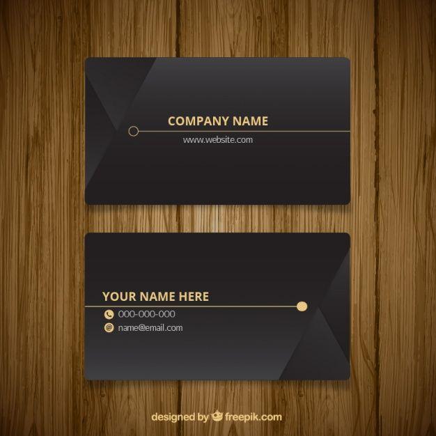 Elegant dark business card Free Vector