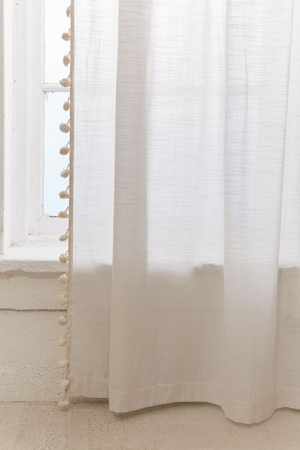 Pompom Curtain Urban Outfitters Curtains Curtains Printed