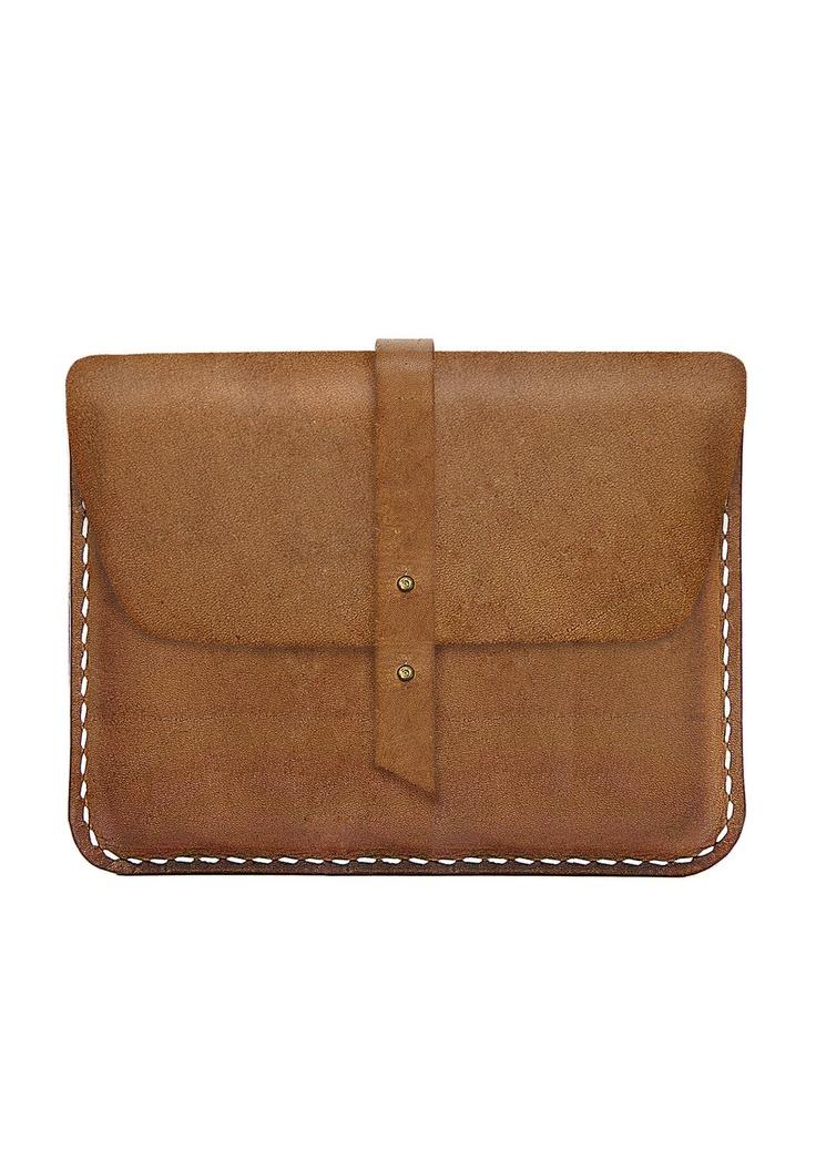 iPad leather sleeve - The Kindergarten Co. TKC. $99.00, via Etsy.
