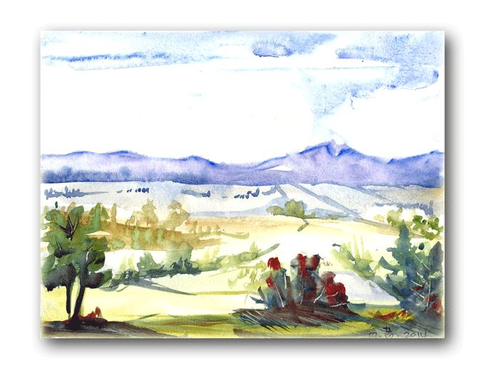 Watercolor sketch original by Joanna Lazuchiewicz 2014
